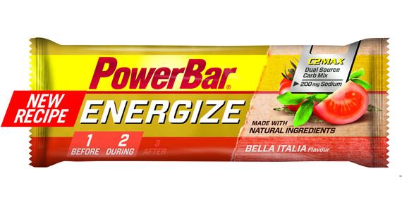 PowerBar Energize - Nutrition sport - Bella Italia 55g beige/rouge